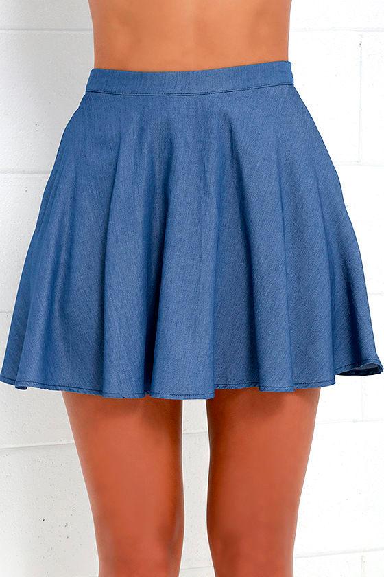 Accompany Me Blue Chambray Two-Piece Dress 6