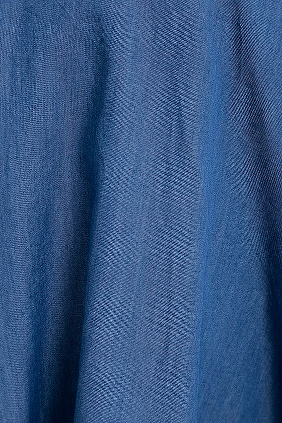 Accompany Me Blue Chambray Two-Piece Dress 8