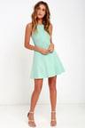 Black Swan Liana Mint Dress Fit And Flare Dress 7100