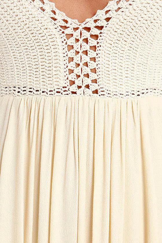 Hippie Hippie Chic Cream Maxi Dress 7