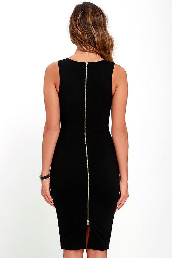 Quite Spectacular Black Midi Dress 4