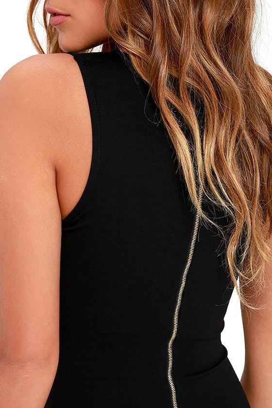 Quite Spectacular Black Midi Dress 5