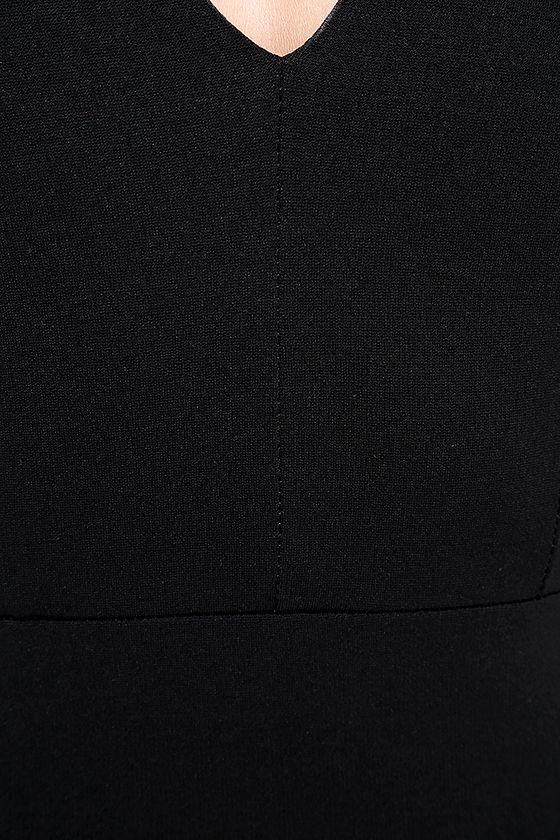 Quite Spectacular Black Midi Dress 6