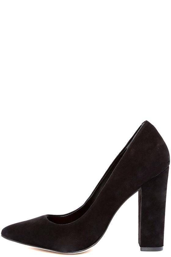 dba63704647 Cute Black Pumps - Block Heel Pumps - Black Heels -  99.00