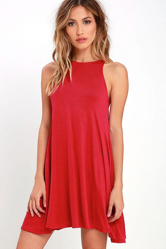 Tupelo Honey Berry Red Dress 1