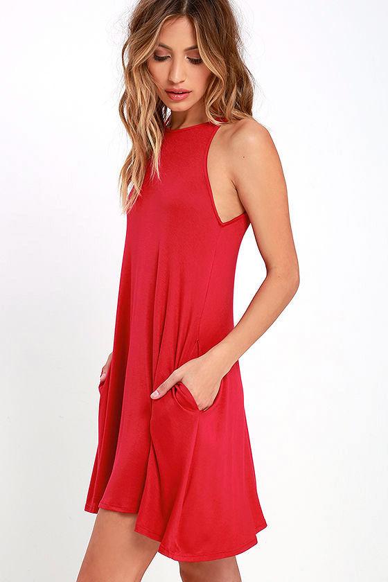Tupelo Honey Berry Red Dress 3