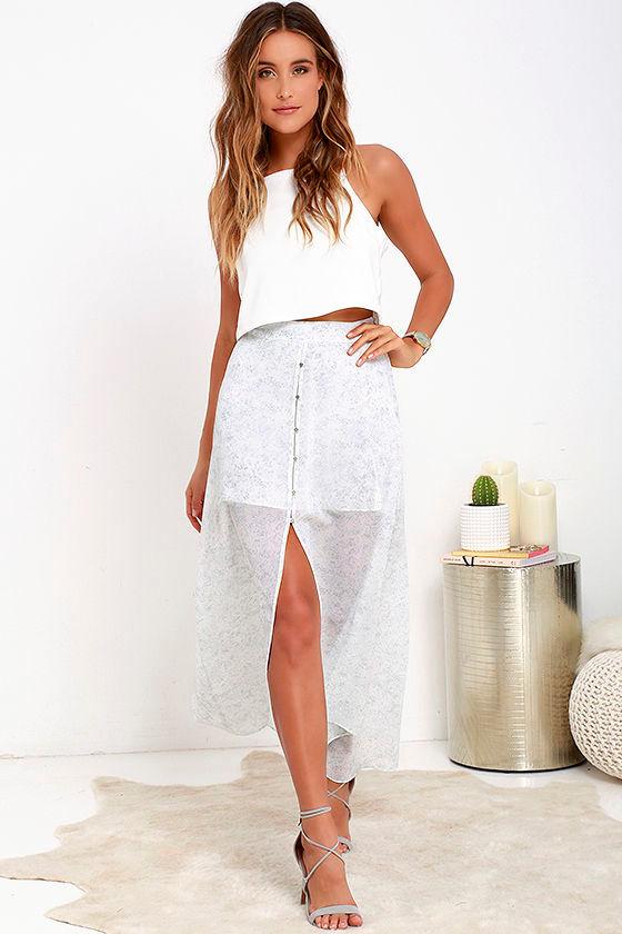8324f0b18c7 Gentle Fawn Medley Skirt - Sage Green Print Skirt - High-Low Skirt -  97.00