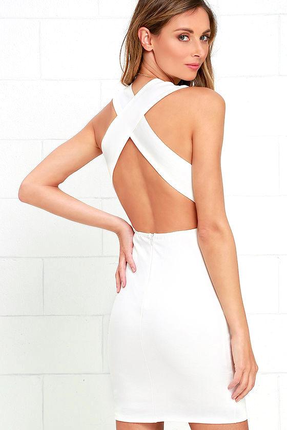 Will Always Love You Ivory Bodycon Dress 1