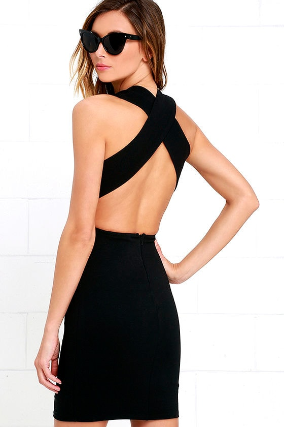 Will Always Love You Black Bodycon Dress 1
