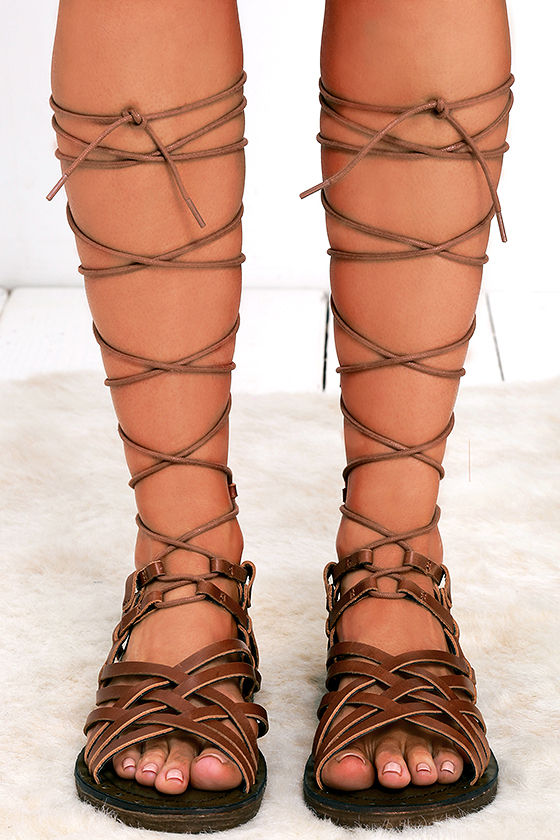 c52419bceb4 Cute Leather Sandals - Tall Gladiators - Gladiator Sandals -  95.00