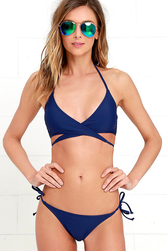 Catch the Wave Royal Blue Bikini at Lulus.com!