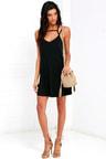 Rvca Zavey Black Dress Shift Dress Strappy Dress 4500
