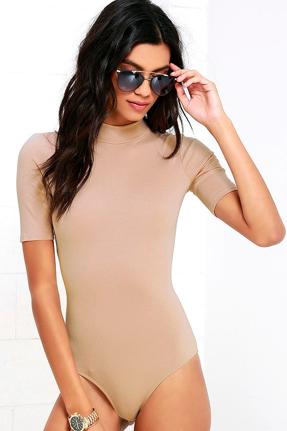 Whenever Wear-ever Beige Bodysuit 3