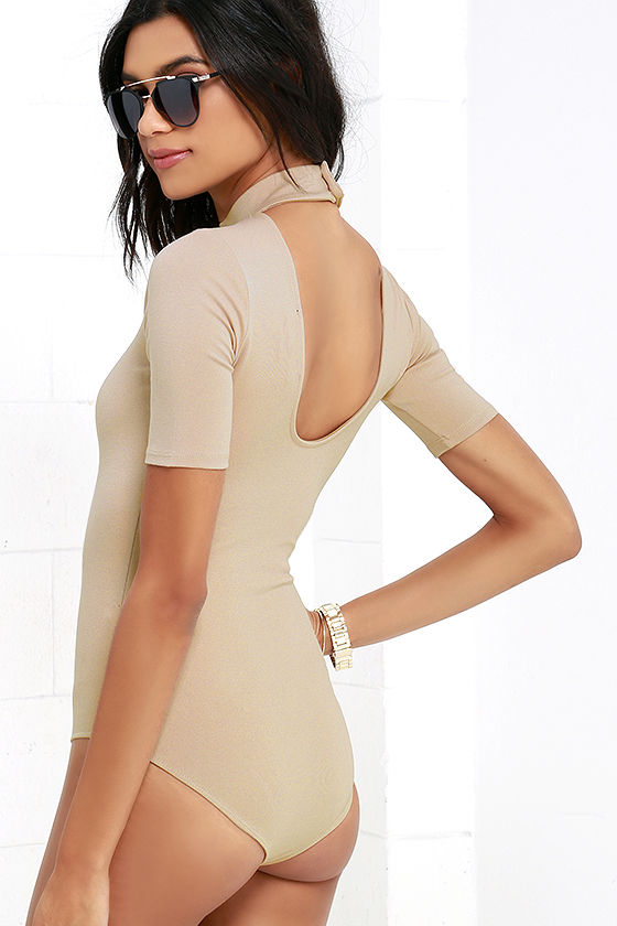 Whenever Wear-ever Beige Bodysuit 4