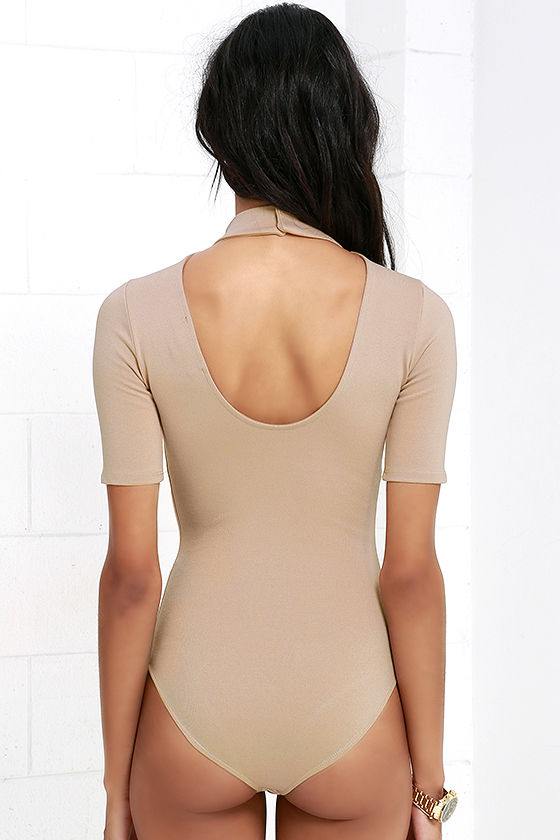Whenever Wear-ever Beige Bodysuit 5
