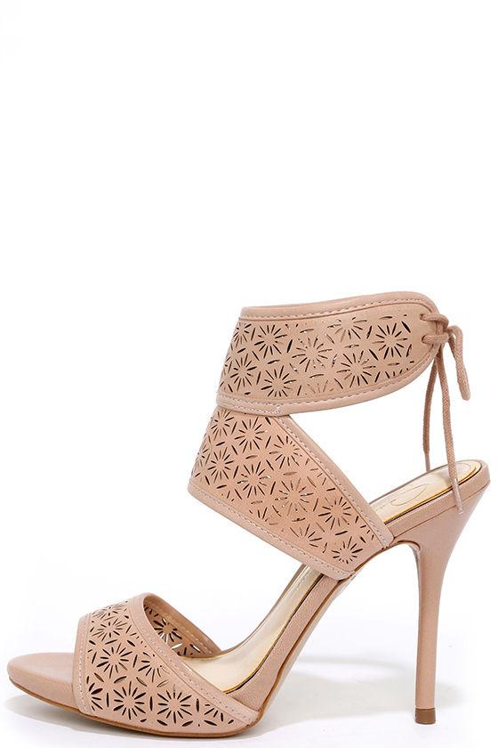 c668888232 Jessica Simpson Barcia Nude Blush Heels -Leather Heels
