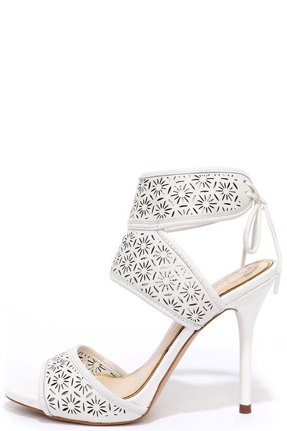 00b70794ac Jessica Simpson Barcia Powder White Heels - Leather Heels