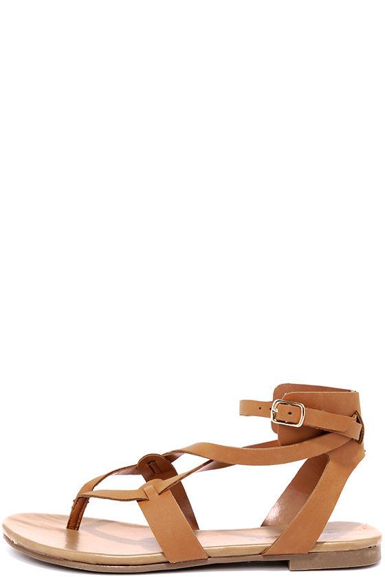 f68b956b4 Cool Tan Sandals - Thong Sandals - Gladiator Sandals -  19.00