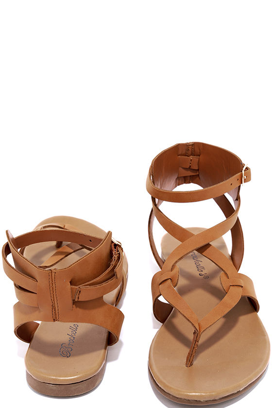Boho Babe Tan Thong Sandals 3