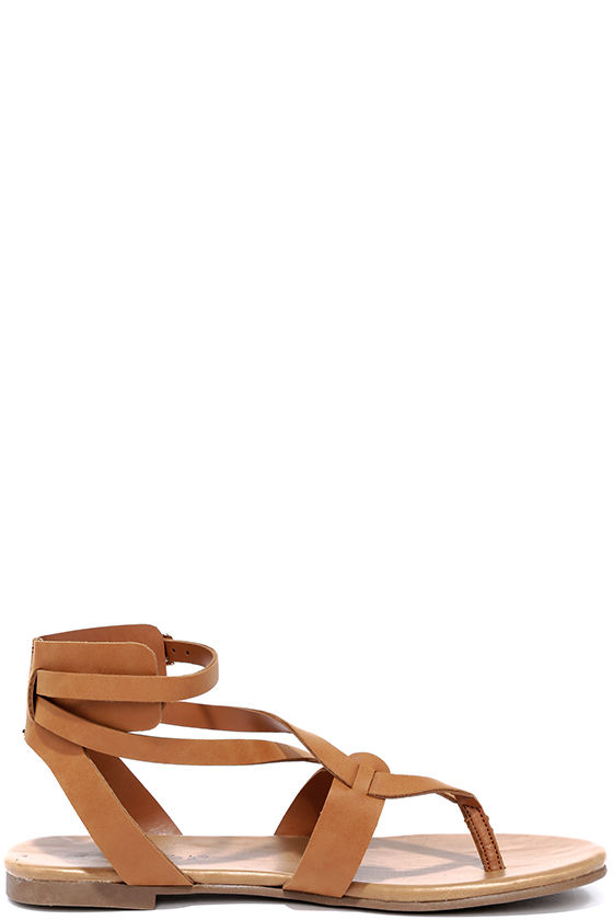 Boho Babe Tan Thong Sandals 4