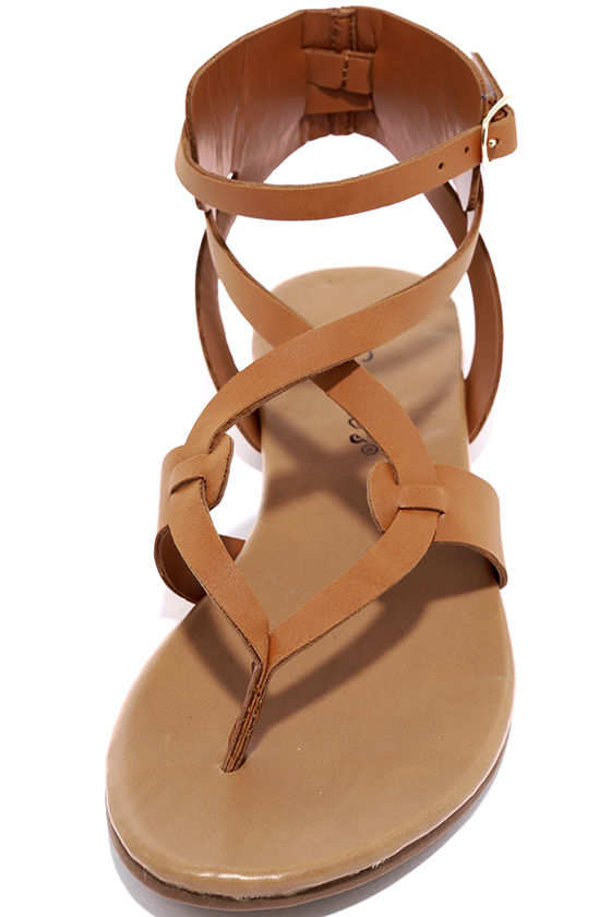 Boho Babe Tan Thong Sandals 5