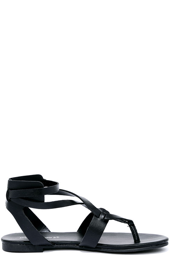 Boho Babe Black Thong Sandals 4