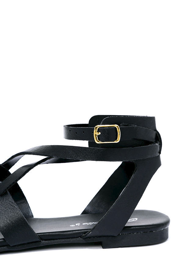 Boho Babe Black Thong Sandals 7