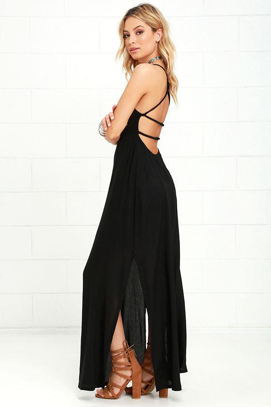 61615b26b79 RVCA Kambria Black Maxi Dress