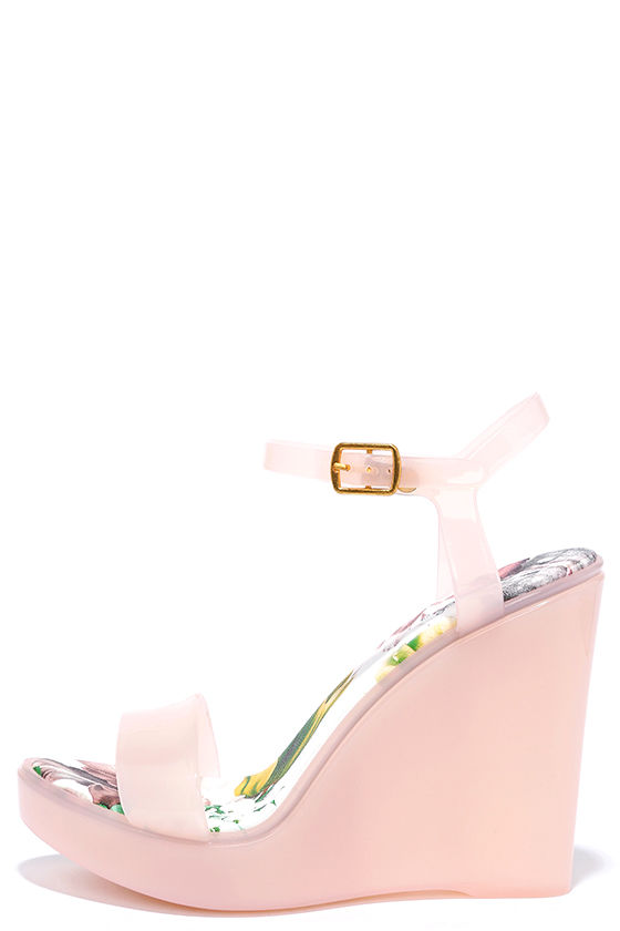 18bd83506140 Pink Jelly Wedges - Wedge Heels - Pink Sandals -  18.00
