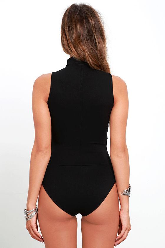 Powerhouse Black Bodysuit 6