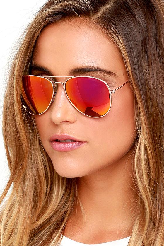 e4f3b1c75b Cool Aviator Sunglasses - Pink Sunglasses - Mirrored Sunglasses -  15.00