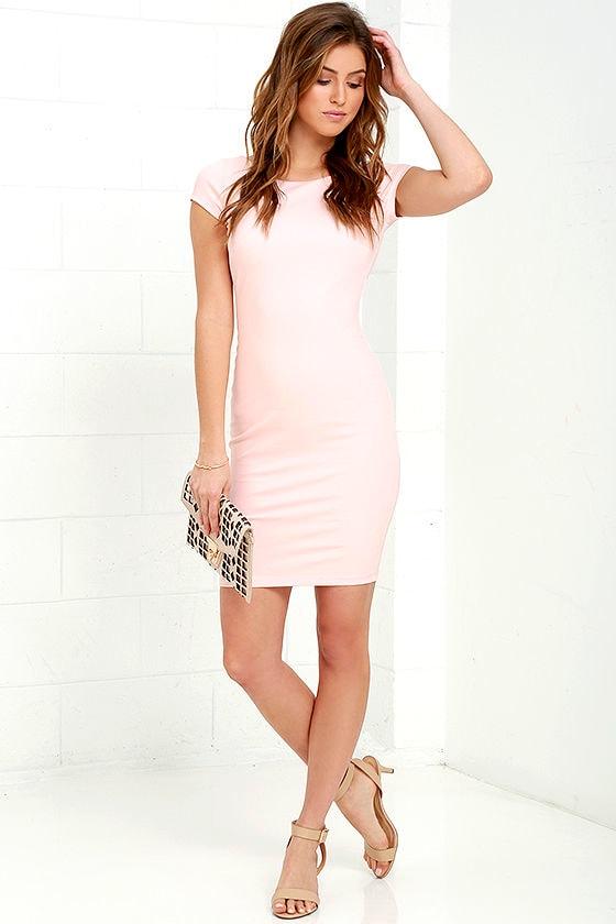 d2d4e46a21fc Sexy Blush Pink Dress - Backless Dress - Bodycon Dress - $44.00
