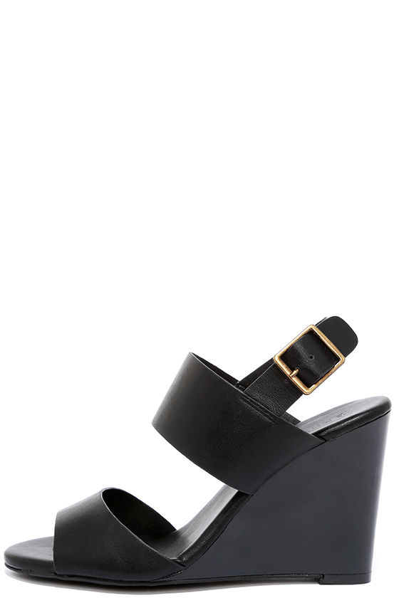 3a1fbbacc2a Orientation Black Wedge Sandals