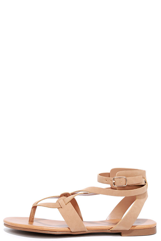 Boho Babe Natural Nubuck Thong Sandals 1