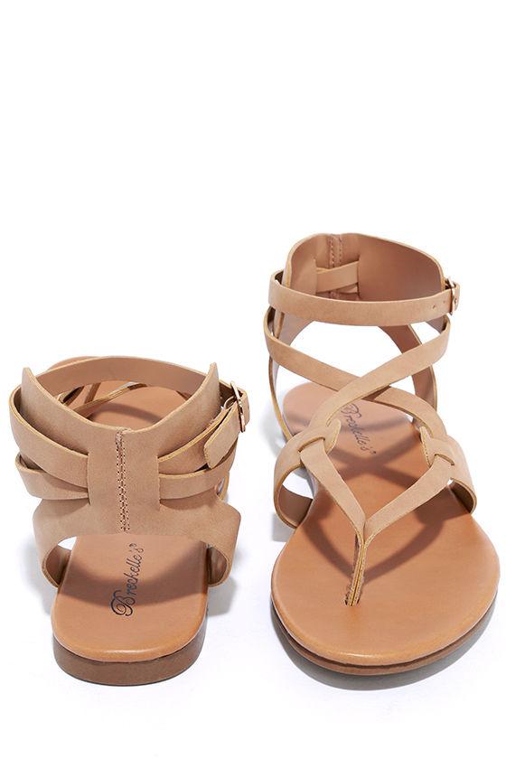 Boho Babe Natural Nubuck Thong Sandals 2