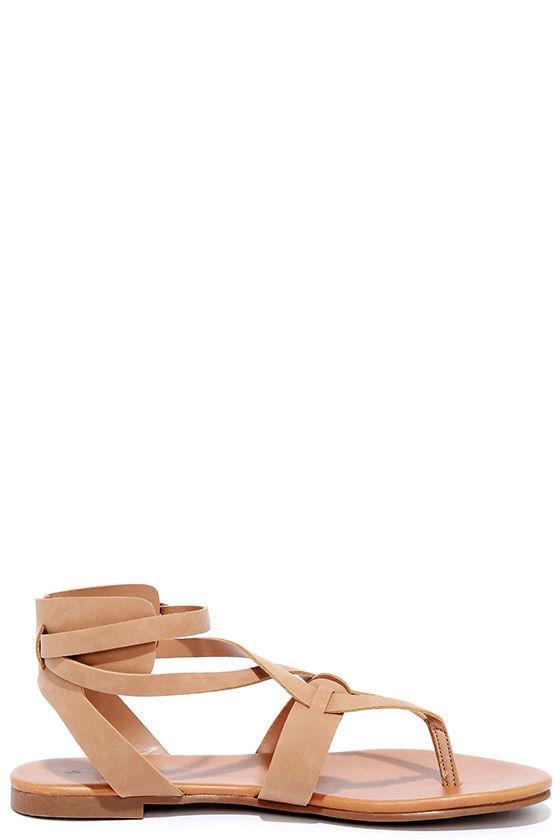Boho Babe Natural Nubuck Thong Sandals 3