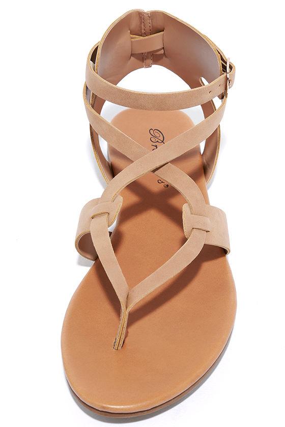 Boho Babe Natural Nubuck Thong Sandals 4