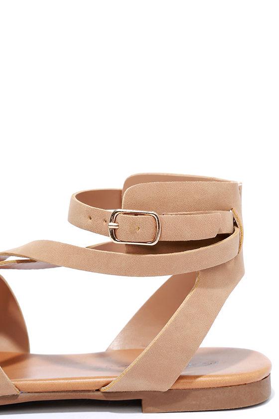 Boho Babe Natural Nubuck Thong Sandals 6