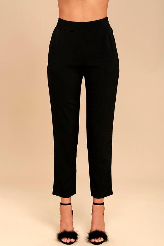 Chic Black Pants - Trouser Pants - Dress Pants - $42.00