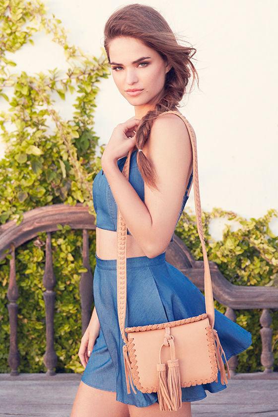 Accompany Me Blue Chambray Two-Piece Dress 2