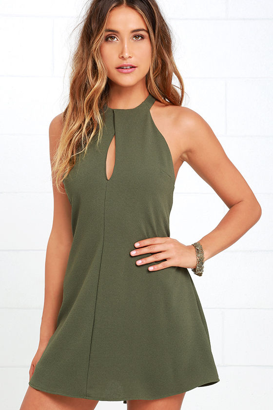 371c3d208e Sexy Olive Green Dress - Sheath Dress - Mini Dress -  44.00
