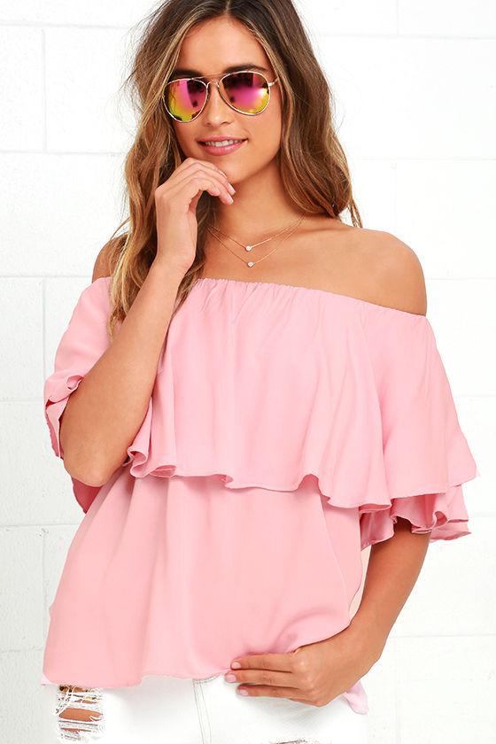 Boho Blush Pink Top