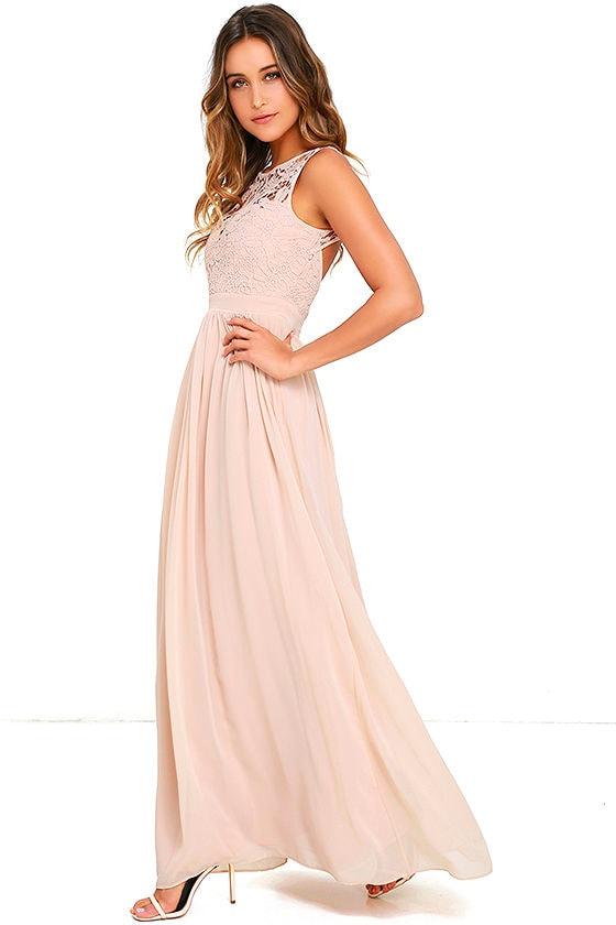 fca7cbcec6 Lovely Blush Dress - Lace Dress - Maxi Dress - Backless Dress -  68.00