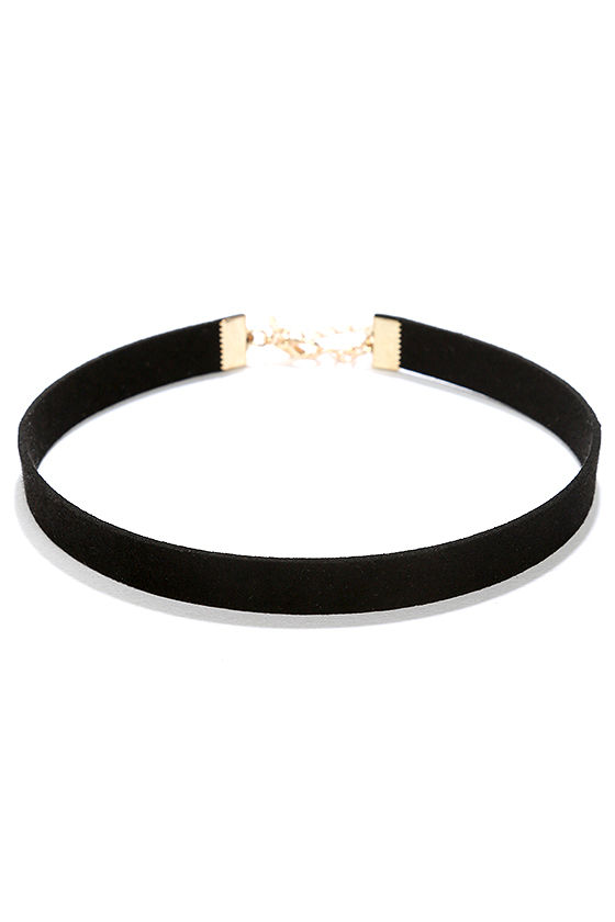 Love Connection Black Suede Choker 2