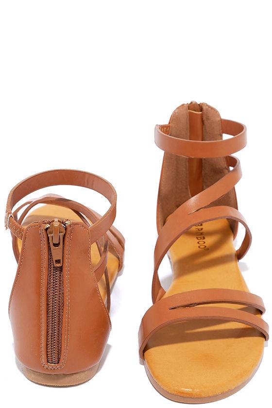 c8b5d0849aa1 Cute Tan Sandals - Vegan Sandals - Flat Sandals -  21.00