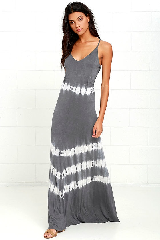 Olive oak maxi dress