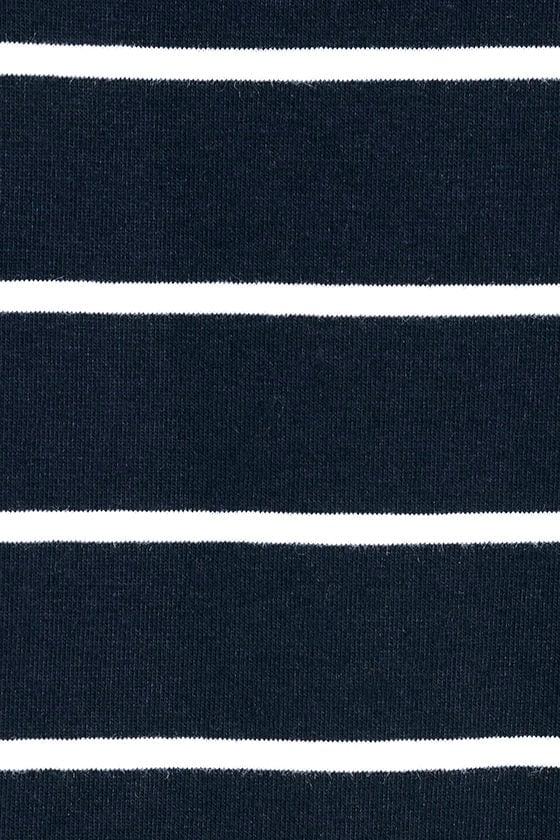 Cafe Society Navy Blue Striped Shirt Dress 6