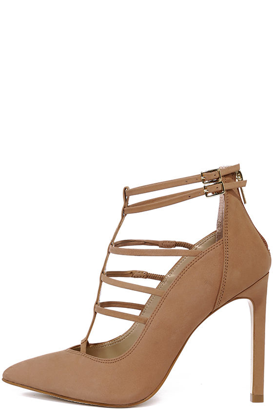 dacc0f284df Cute Caged Pumps - Pointed Pumps - Caged Heels -  109.00