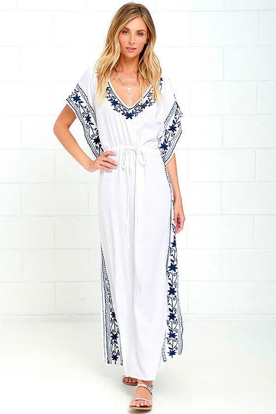 00277245b8f Mila Soul Dress - Ivory Dress - Maxi Dress - Kaftan Dress -  86.00