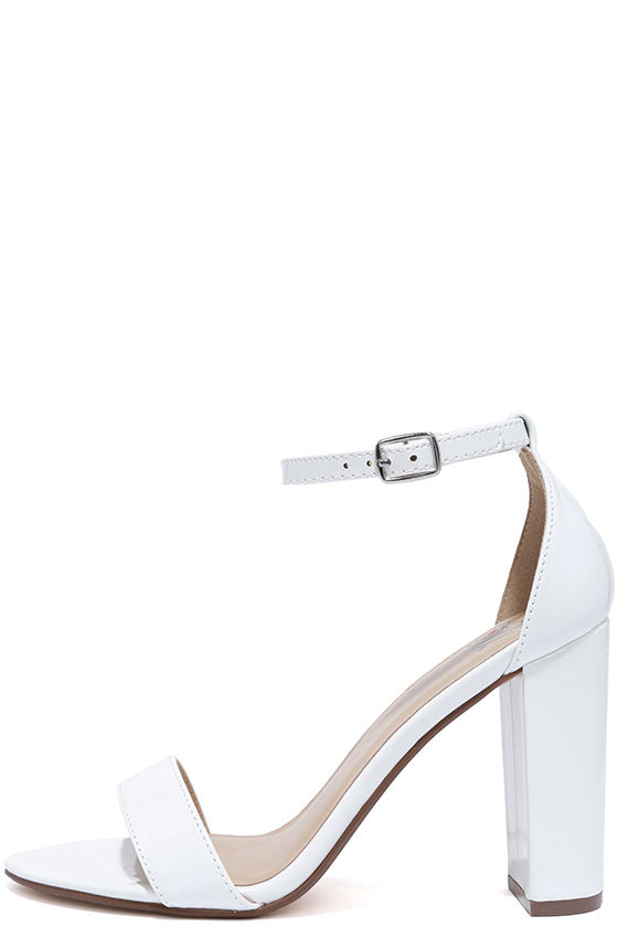 f97cfd2dba5 Pretty White Heels - Ankle Strap Heels - Dress Sandals -  22.00
